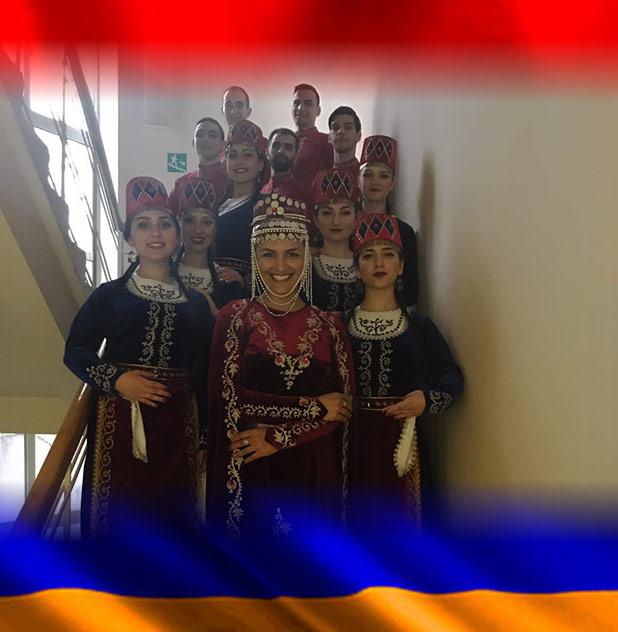 конкурс армянских народных танцев в городе Москва
